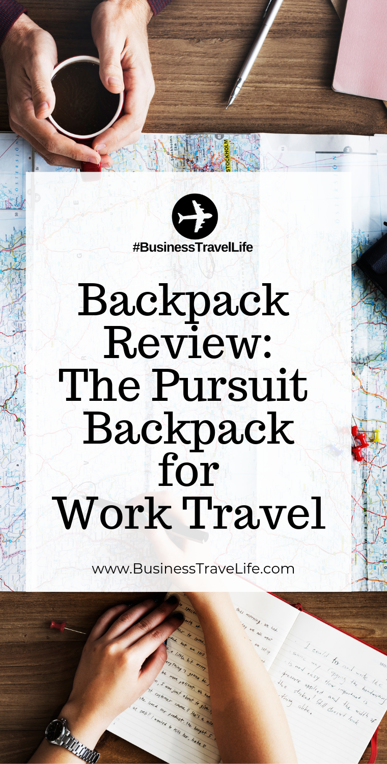 pursuit backpack, business travel life