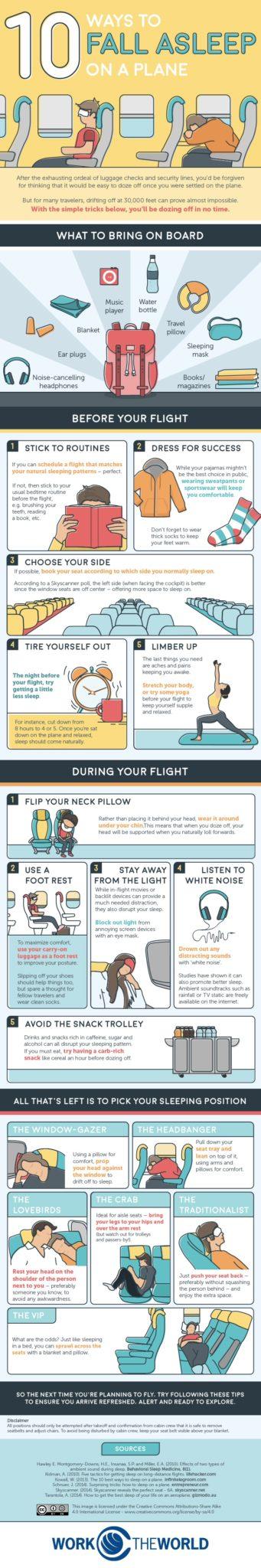 10 Ways to sleep better on the airplane