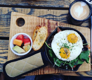 I rode the bike to an organic restaurant called Olive & Finch. It was a nice 15 minute ride through the downtown area to get there. I highly enjoyed my breakfast, which was served on a wooden along with a fresh juice from their juice bar.