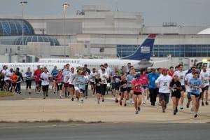 travel workout clt airport run