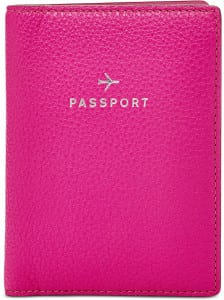 Passport Holder by Fossil Business Travel Life pink