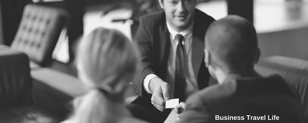 business card networking business travel life