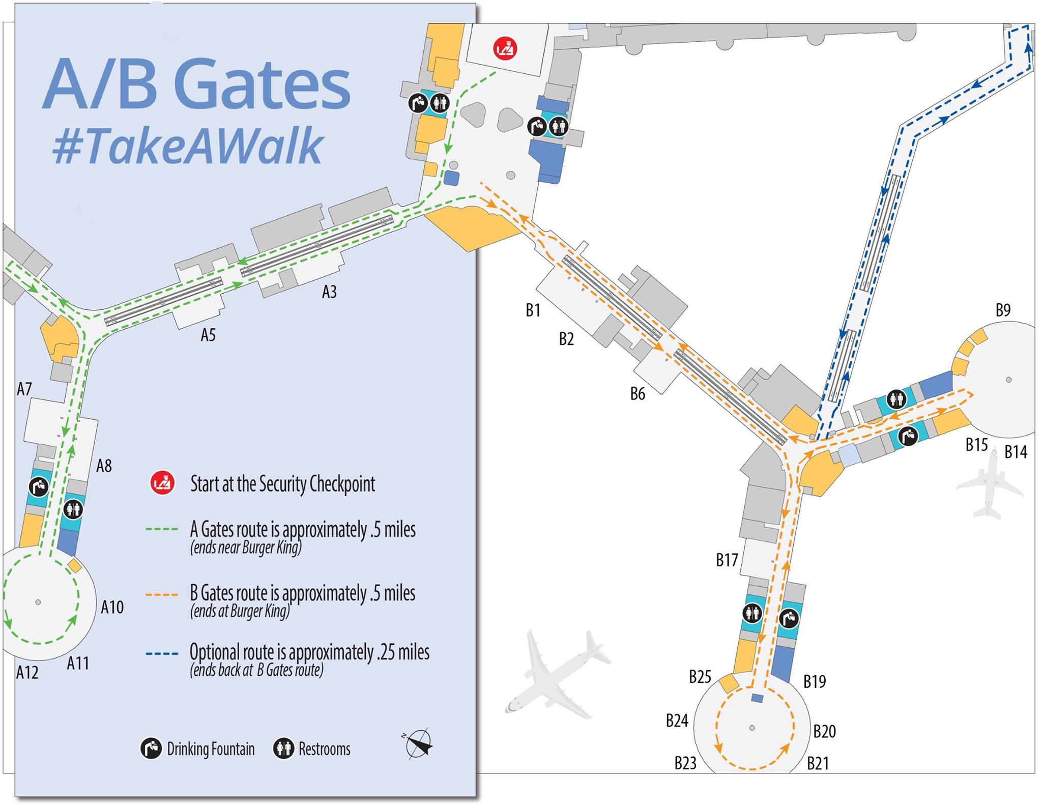 Fit Travel Tips Walking Routes Enroute Business Travel Life - Las vegas walking map