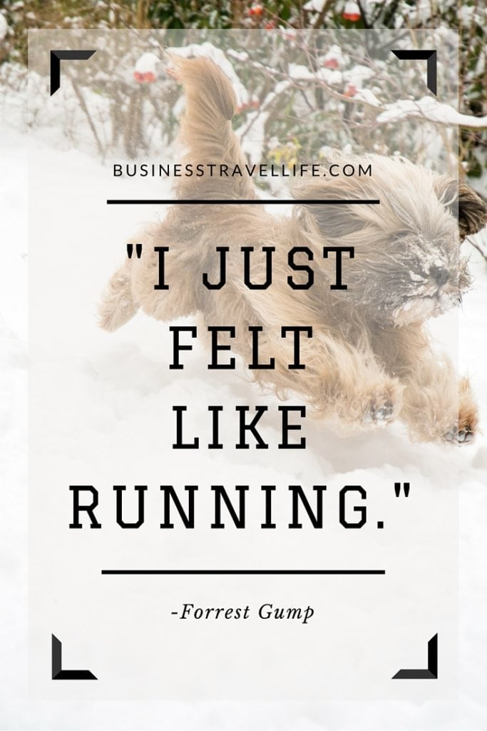 jogging benefits business travel life