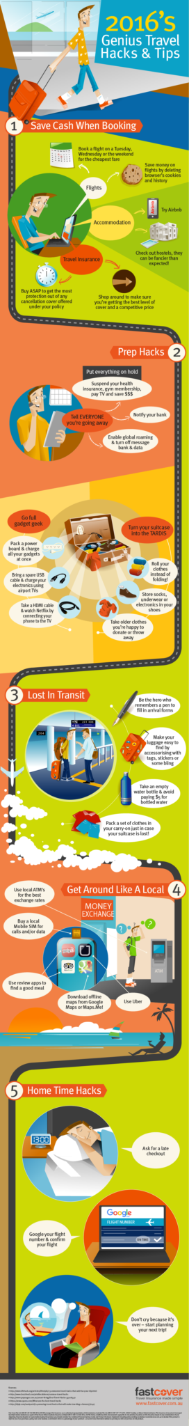 travel hacks business travel life infographic