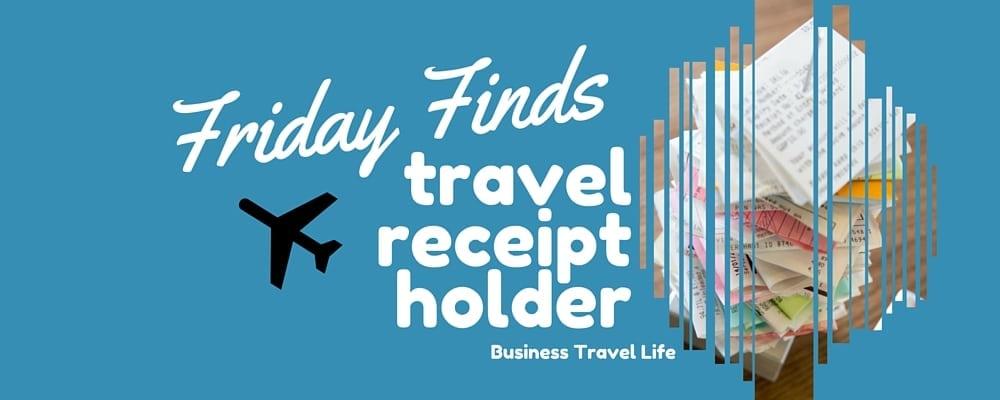 receipt holder for travel business travel life header