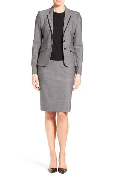 Mélange Wool Suit Set Business Travel Life