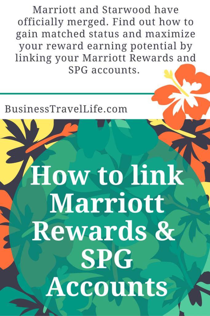 link marriott and SPG account