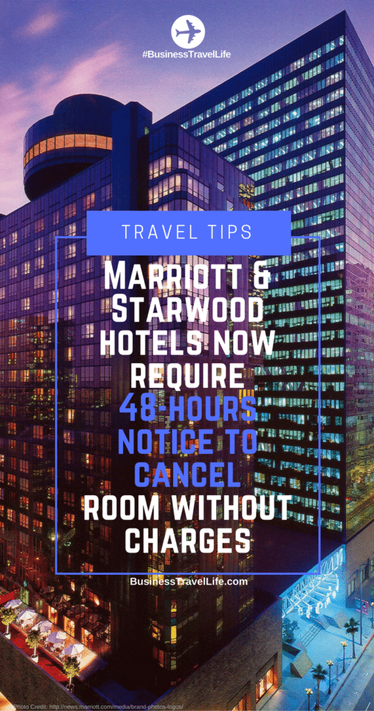 Marriott cancellation policy business travel life 3
