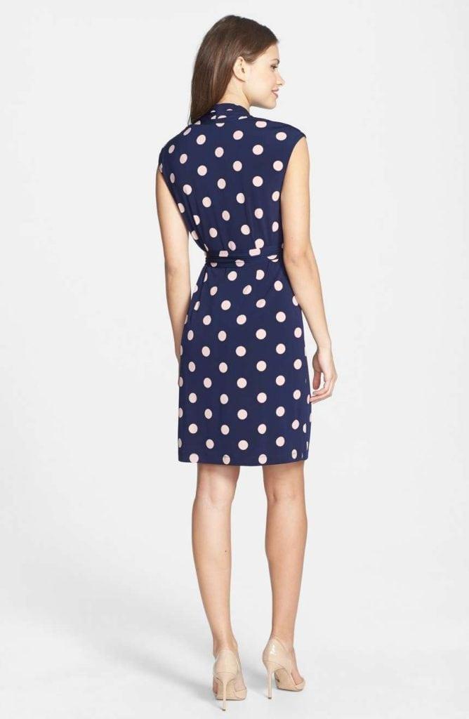polka dot wrap dress 2