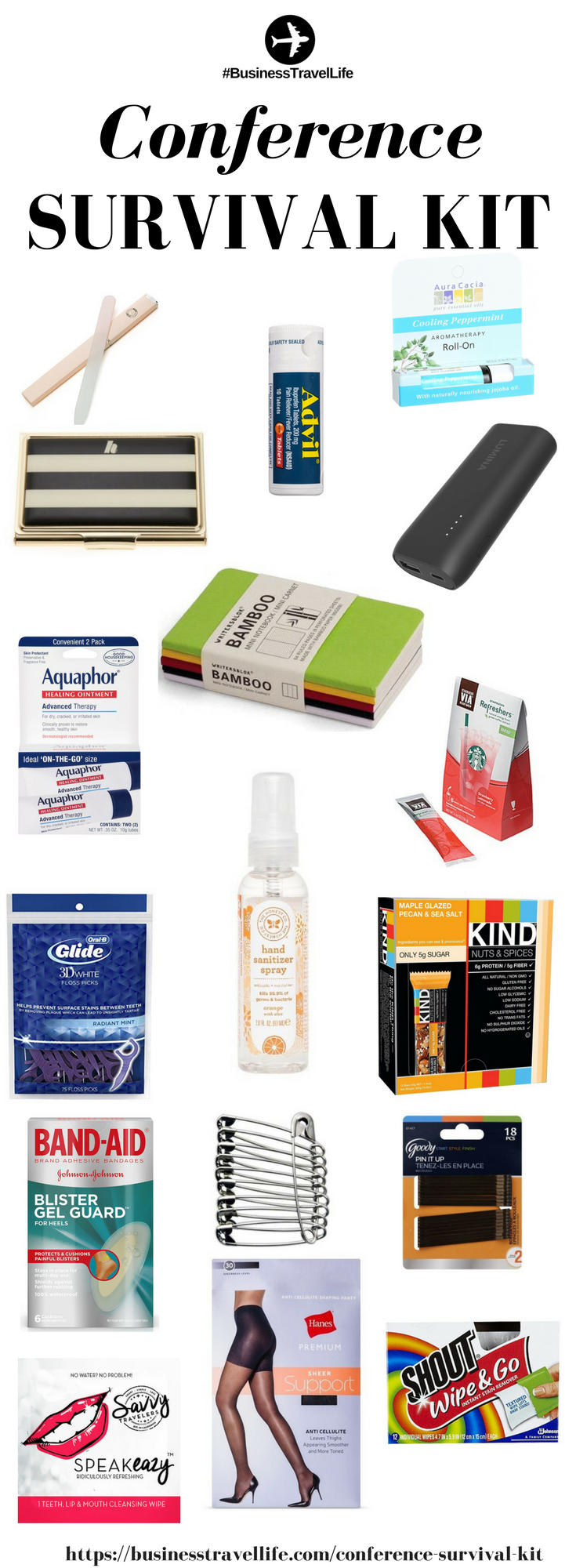 Conference Survival Kit Business Travel Life