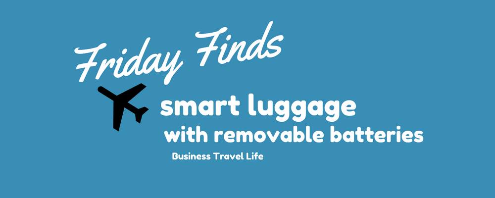 Smart Luggage With Removable Batteries
