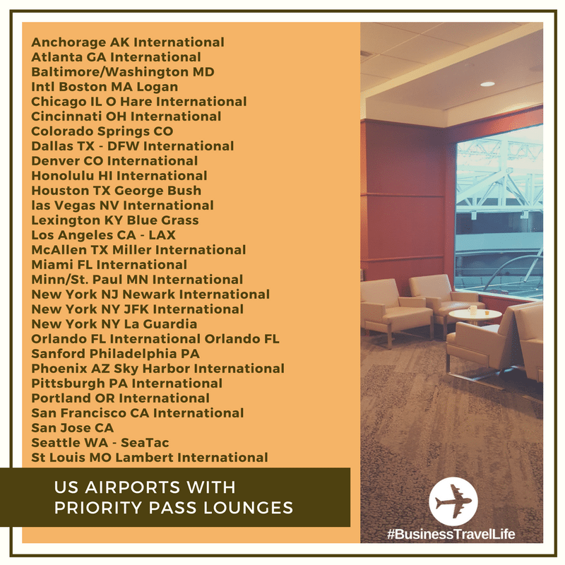 PRIORITY PASS LOUNGES business travel life