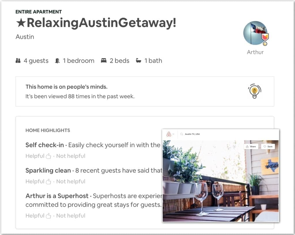 Airbnb business travel, austin, business travel life