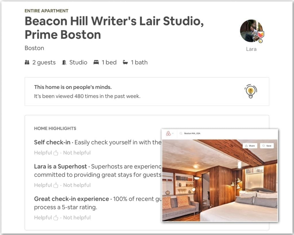 Airbnb business travel, boston, business travel life