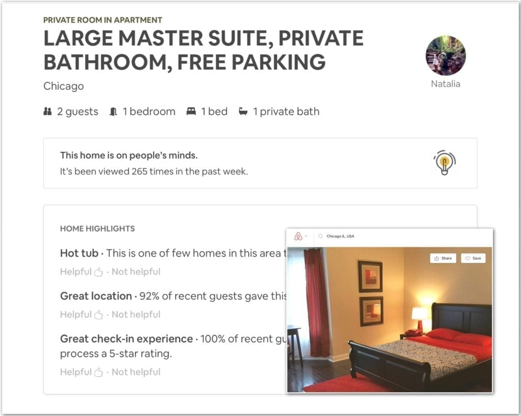 Airbnb business travel, chicago, business travel life