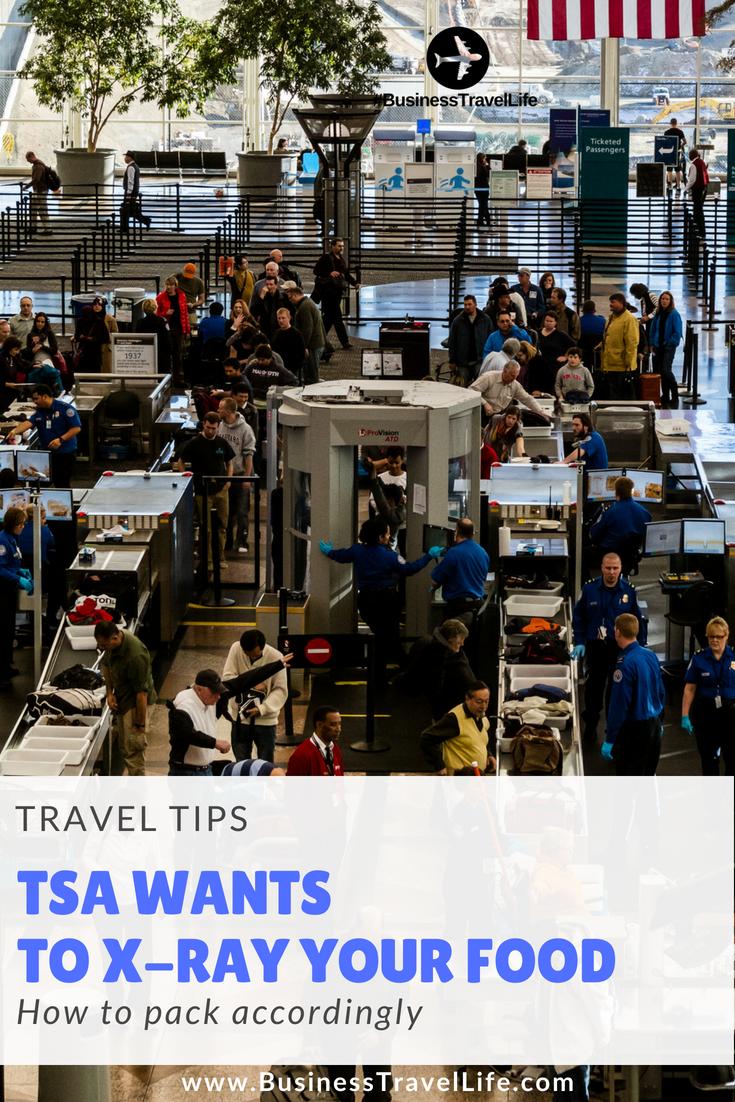 TSA Snack Screening Business Travel Life