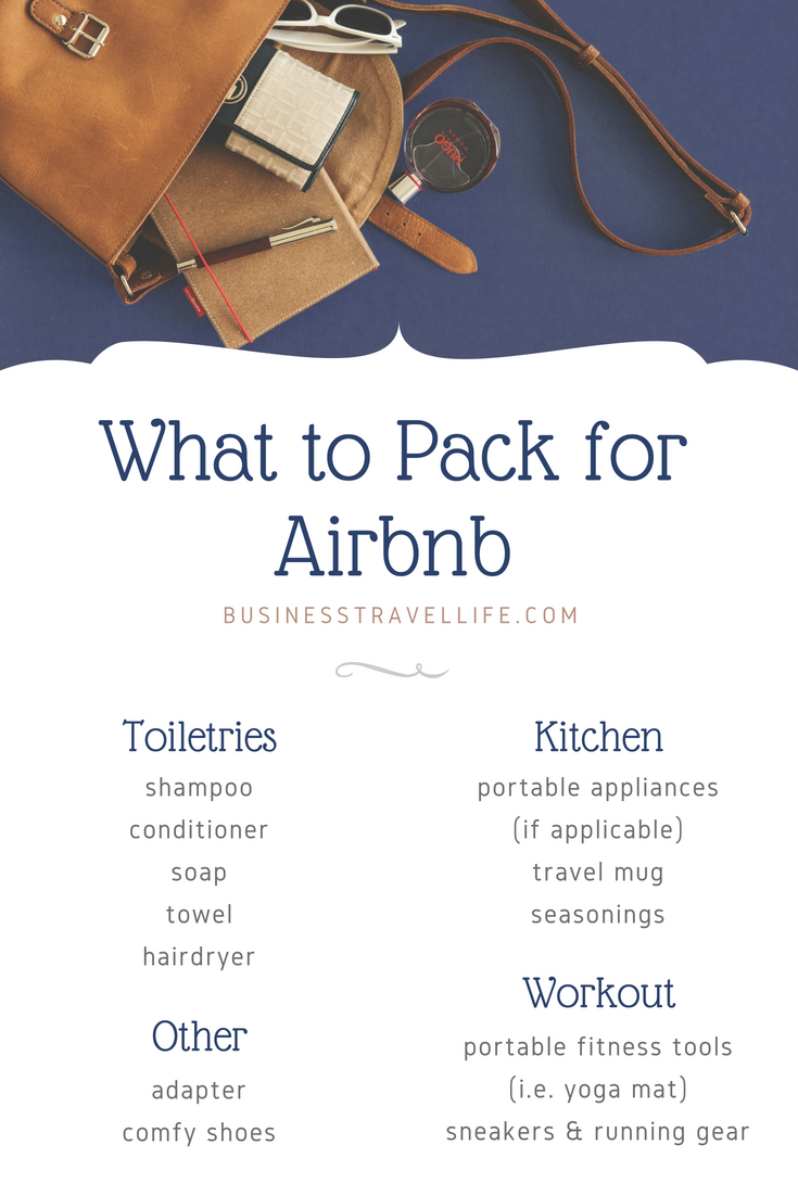 What to Pack for Airbnb, Business Travel Life 2