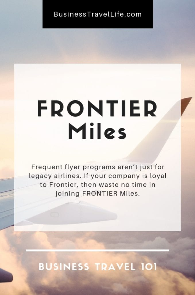 Frontier miles, business travel life 2