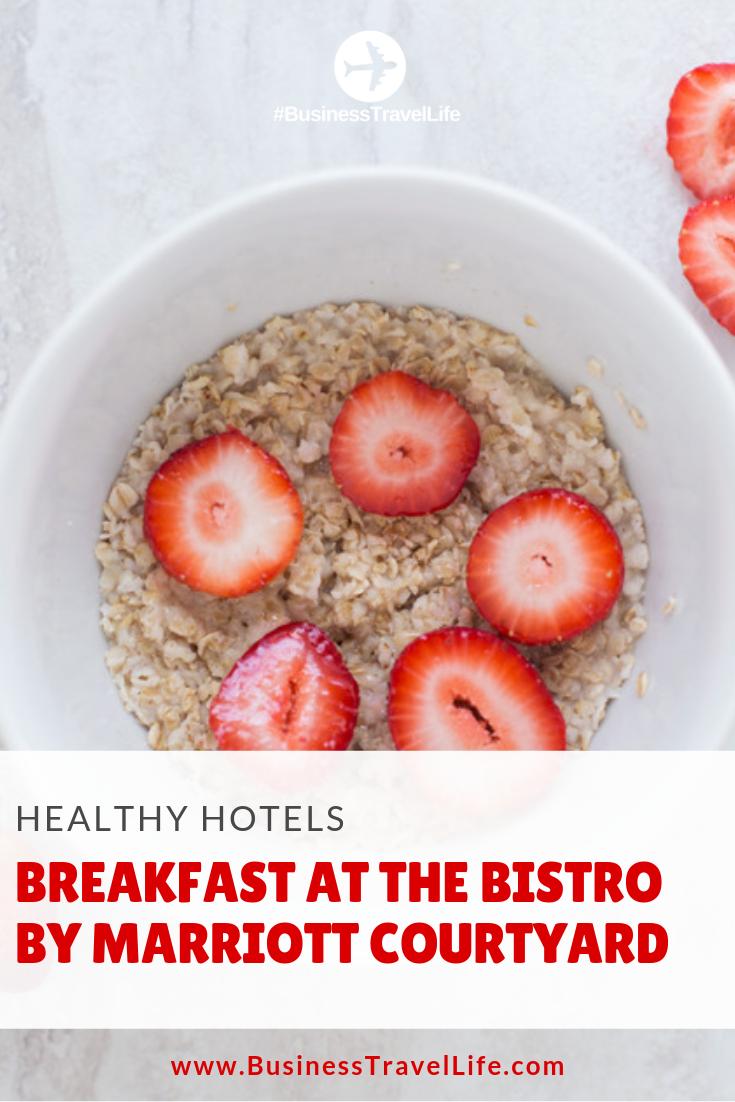 healthy hotel breakfast, business travel life