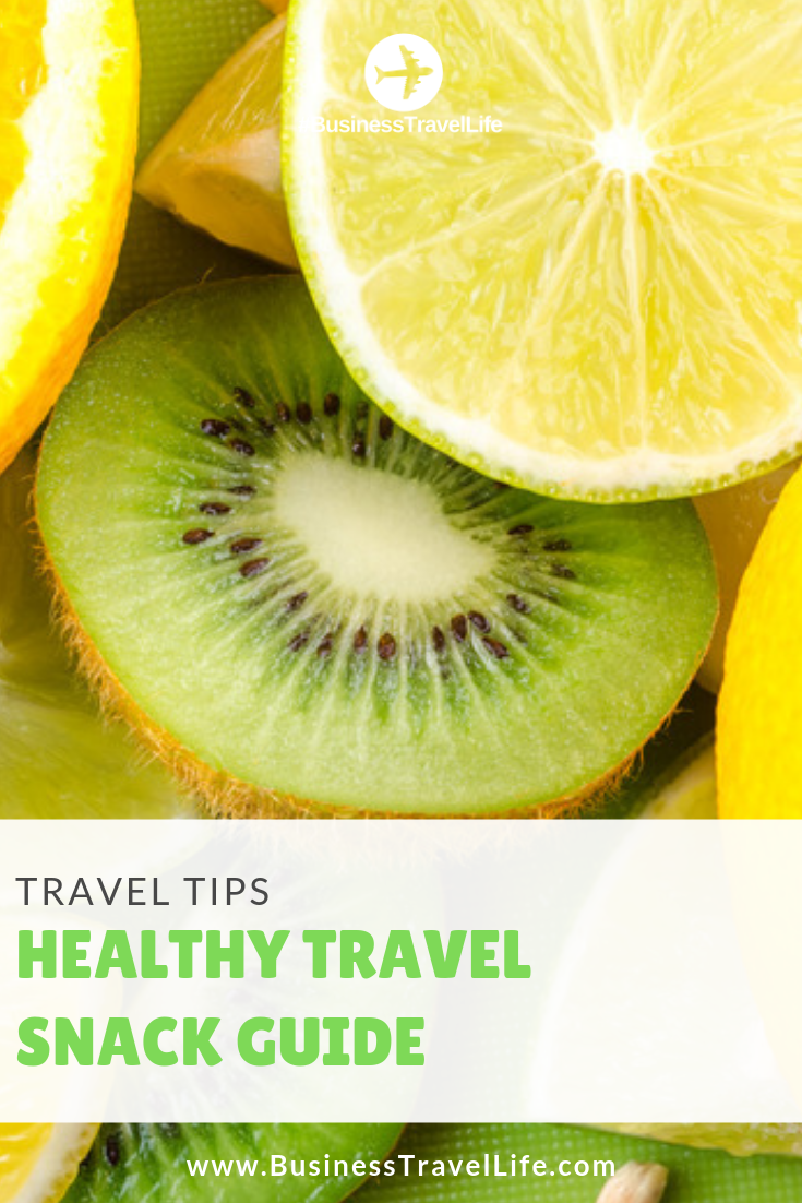 healthy travel snacks, business travel life