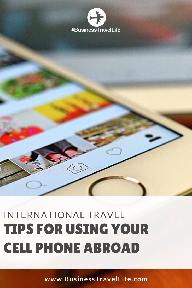 international travel tips, cell phones, Business Travel Life