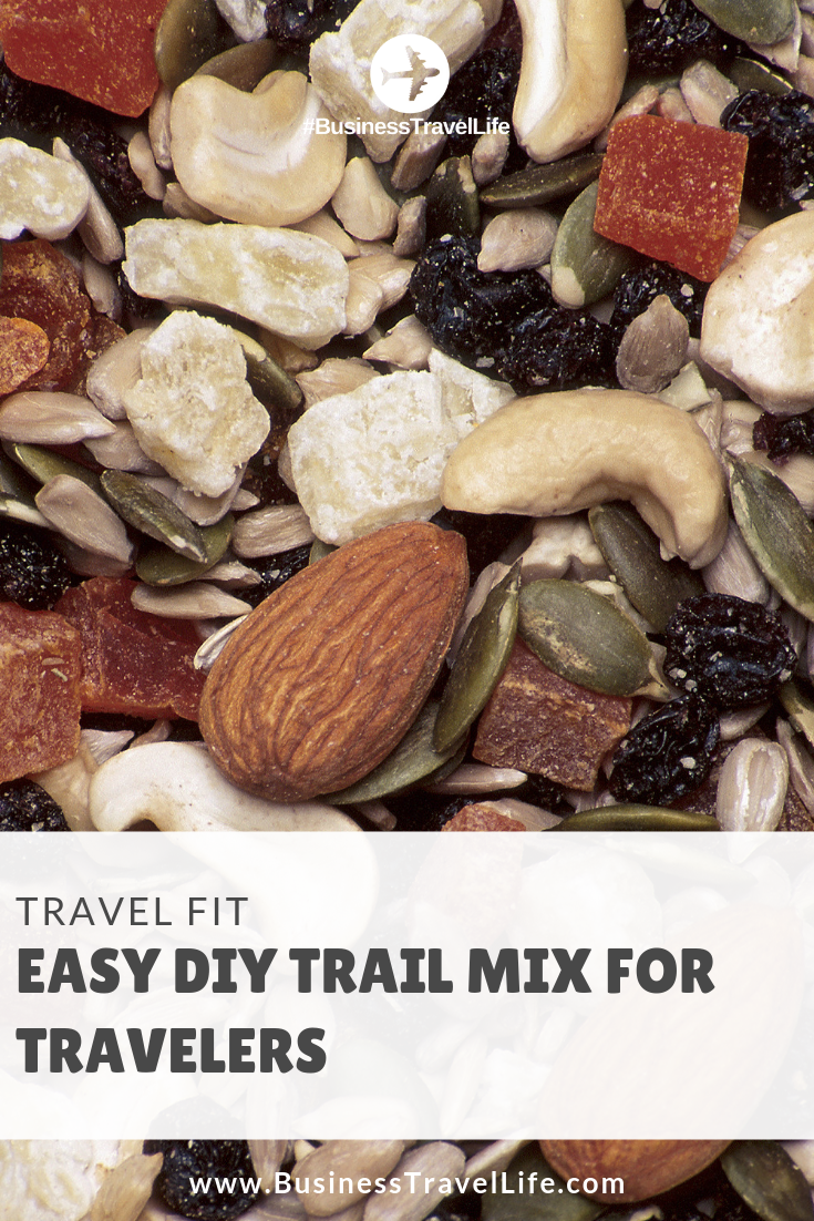 diy trail mix, Business Travel Life