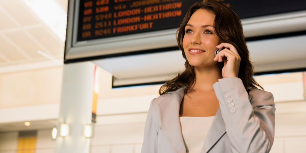 using cell phone abroad business travel life