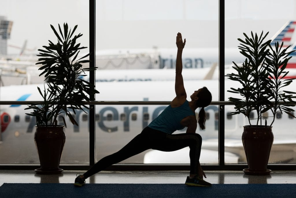 dfw, airport fitness, business travel life
